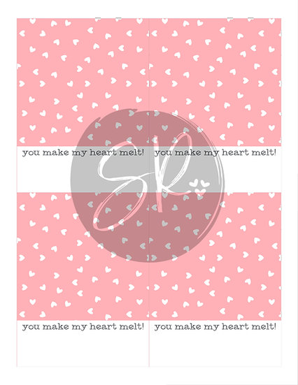 You Make My Heart Melt - Cookie Card Printable