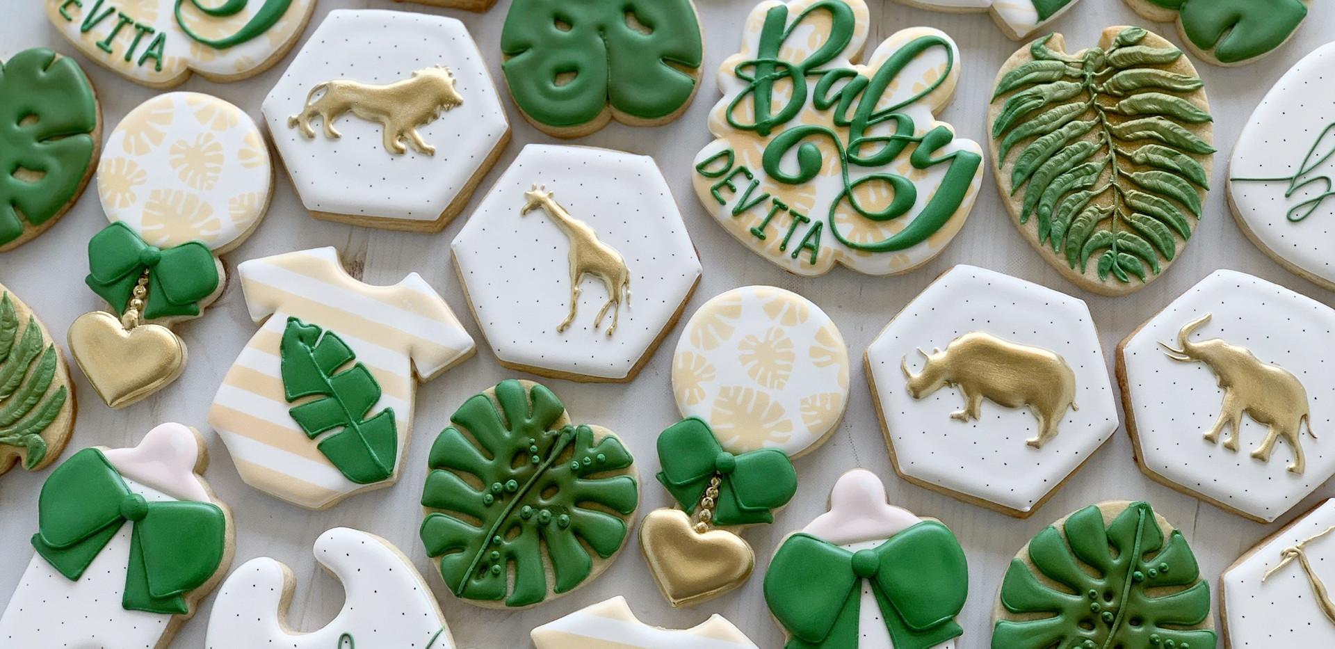 Safari Baby Cookies _ Simply Renee Sweet