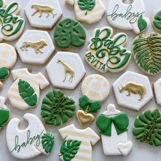 Gold Safari Baby Cookies | Simply Renee Sweets