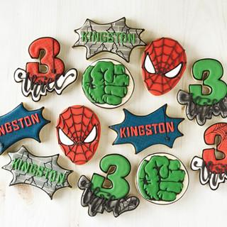 Super Hero Birthday Cookies   Simply Renee Sweets