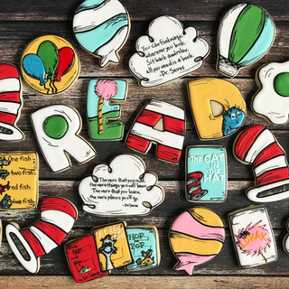 Dr. Seuss Read Across America Cookies Decorated Cookies | Simply Renee Sweets