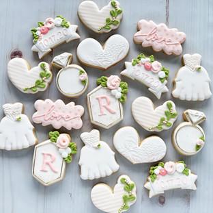 Pale Pink Wedding Cookies