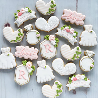 Pale Pink Wedding Cookies