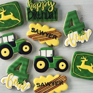 Tractor Birthday Cookies | Simply Renee Sweets