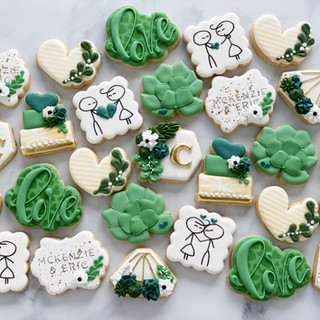 Succulent Wedding Cookies