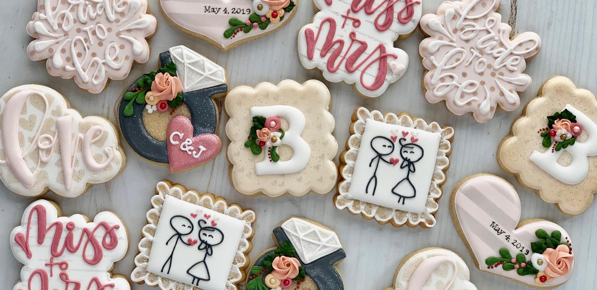 C&J Wedding Shower Cookies _ Simply Rene