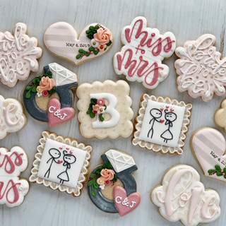 Bridal Shower Mini Cookies | Simply Renee Sweets