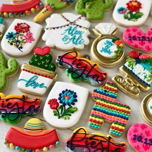 Fiesta Engagement Cookies | Simply Renee Sweets Sweets