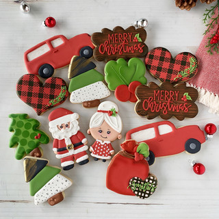Woodland Christmas Decorated Cookies