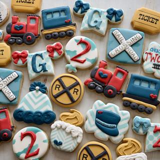 Chugga Chugga Two-Two Birthday Cookies   Simply Renee Sweets