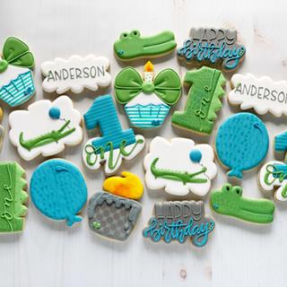 Crocodile Birthday Cookies