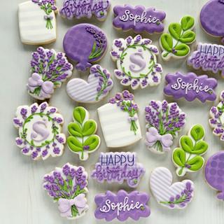 Lavender Fields Birthday Cookies
