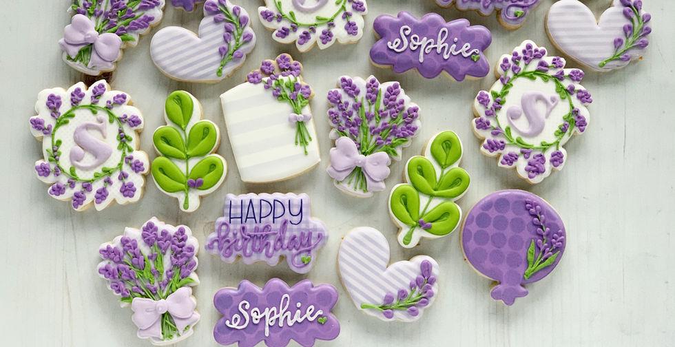 Lavender Fields Birthday Cookies.JPG