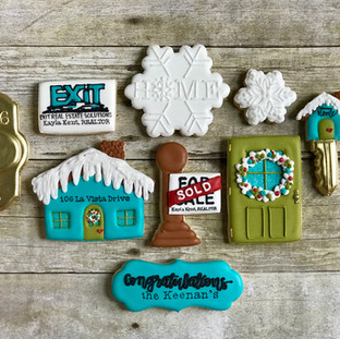 Winter Exit Real Estate Solutions Cookies Decorated Cookies