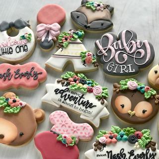 Woodland Creature Baby Cookies | Simply Renee Sweets