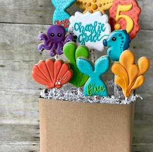 Mermaid Cookie Bouquet | Simply Renee Sweets