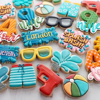 Splash Bash Birthday Cookies | Simply Renee Sweets