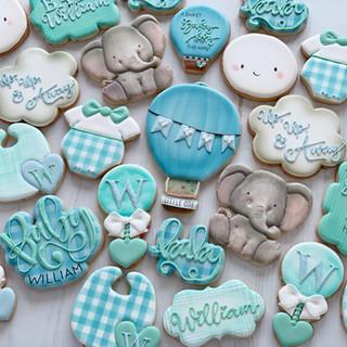 Hot Air Balloon Baby Cookies | Simply Renee Sweets