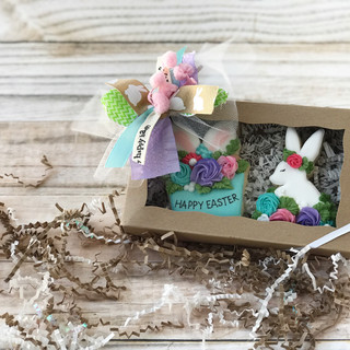 Happy Easter Gift Box Decorated Cookies