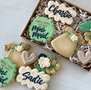 Bridal Party Invite Cookies | Simply Renee Sweets