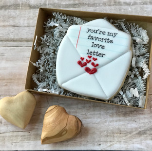 Love Letter 2 Decorated Cookies