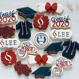 Lee University Graduation Cookies