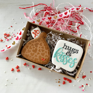 Hugs & Kisses Decorated Cookies