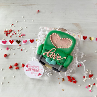 Love Bug Decorated Cookies