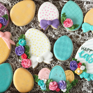 Happy Easter Eggs Decorated Cookies