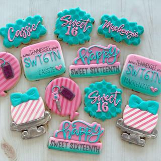 Sweet Sixteen Birthday Cookies | Simply Renee Sweets