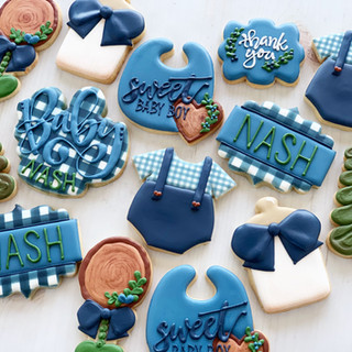 Woodland Baby Boy Cookies | Simply Renee Sweets