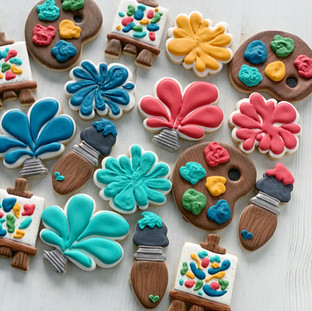 Paint Party Cookies | Simply Renee Sweets