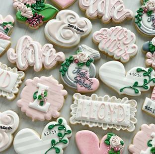 Blush Pink Wedding Shower Cookies | Simply Renee Sweets