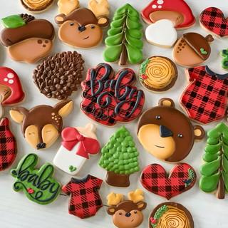 Buffalo Plaid Baby Cookies | Simply Renee Sweets