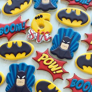 Batman Birthday Cookies   Simply Renee Sweets