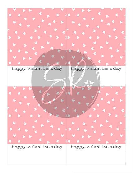 PINK Happy Valentine's Day - Cookie Card Printable
