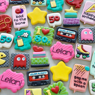 80s Birthday Cookies   Simply Renee Sweets