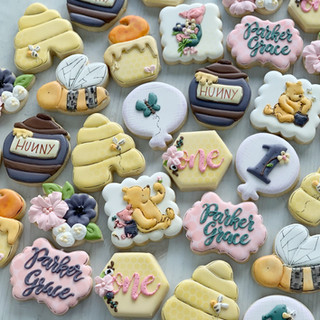 Classic Pooh Birthday Cookies | Simply Renee Sweets