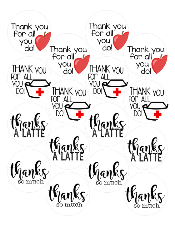 FREE Thank You Tag Printable