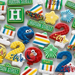 Sesame Birthday Cookies   Simply Renee Sweets
