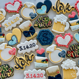 Mr and Mrs Wedding Cookies