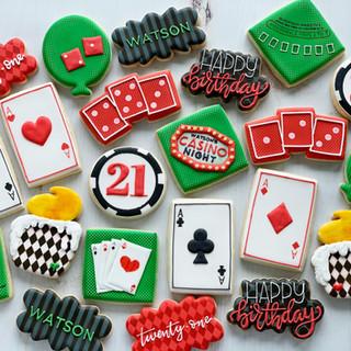 21st Casino Birthday Cookies