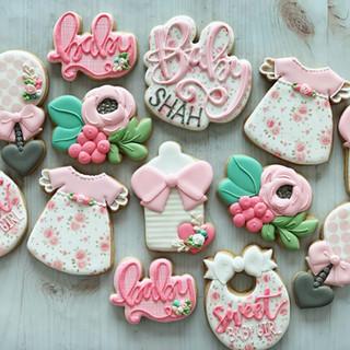 Floral Baby Girl Cookies | Simply Renee Sweets