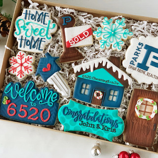 Parks Realty Winter Box Decorated Cookies