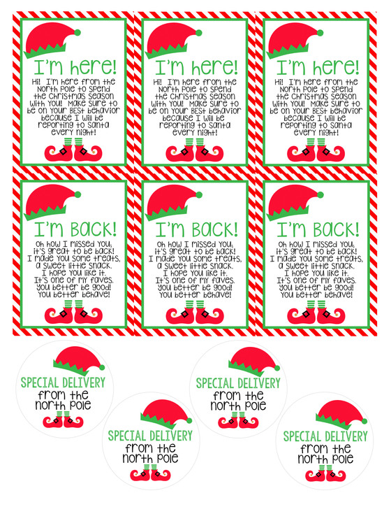 That pesky little elf is back! FREE PRINTABLE