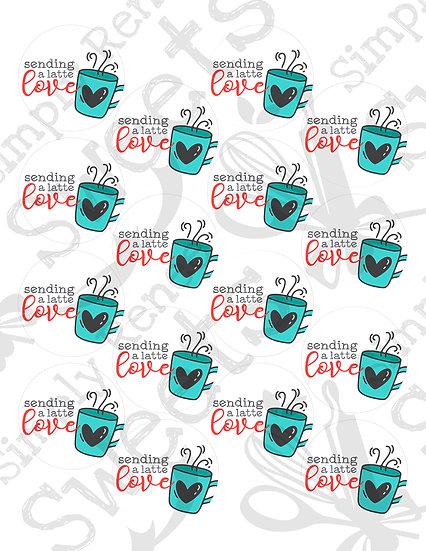 Sending a Latte Love Tag Printable