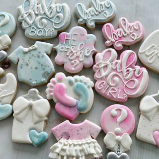 Gender Reveal Baby Cookies | Simply Renee Sweets