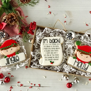 Elf on the Shelf Decorated Cookies