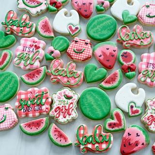 Pink Watermelon Baby Girl Cookies | Simply Renee Sweets