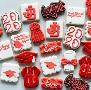 Red Graduation Cookies
